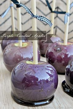 Puple Candied Apples