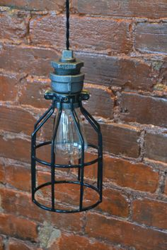 Hanging Pendant Industrial Pipe Light [ Edison Bulb Included ]