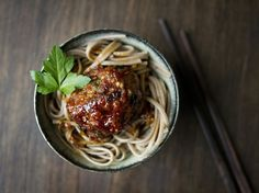 Asian-Inspired Meatballs and Spaghetti by Eat Boutique