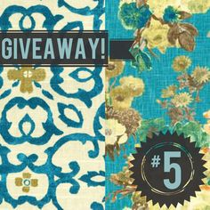 Click the pin and fill out the form to enter for a chance to win four yards of the new @HGTV HOME line available exclusively at Jo-Ann or click here to enter: https://www.wf-site.com/microsite/pages/7ca70a1466400aa6 Note: The screen will stay the same even after you've submitted the form. No worries, though, we're getting your entries :) Two yards of Souvenir Scroll Lagoon (left) and two yards of Garden Odyssey Lagoon (right).