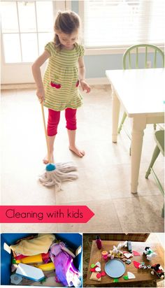 Cleaning with Kids | Playtime Press: Mary Poppins was on to something -- how to make cleaning fun!
