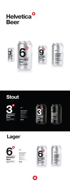 Helvetica beer by Alexander Kischenko, via Behance