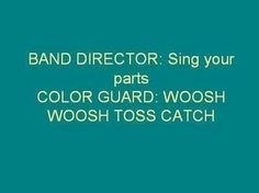 this is so true it's not even funny...I can't believe how long it's been since I was n the colorguard/band ..I miss those days