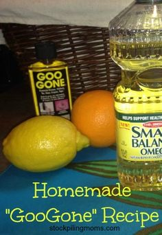 Homemade GooGone Recipe - all natural