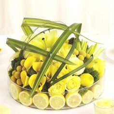 Lemon or lime center piece.