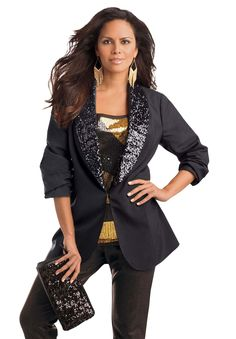 Plus Size Sequin Blazer image