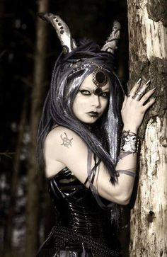 gray hair, costum, goth girl, witchywoman nsfw, fairytale party