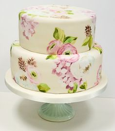 Handpainted cakes - pretty