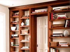 bookshelf over door
