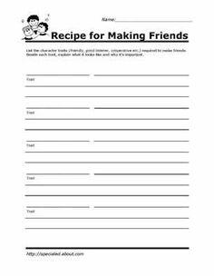 Social Skills Worksheets!