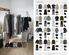 A simple autumn capsule wardrobe.