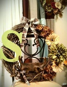 18 Camo/Deer hunting Wreath by CountryChicDecor on Etsy, $60.00