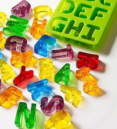 Stocking stuffer idea: These silicone ice cube trays turn Jell-O into a alphabetical treat #parentsgifts @Jonathan Nafarrete Nery Williams Magazine