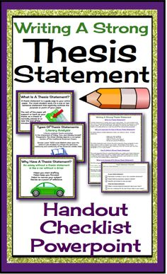 developing thesis statements middle school