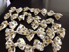 I made these duct tape bows for my nephews party