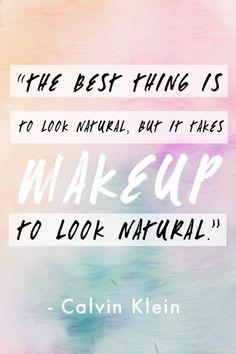 Calvin Klein beauty quote
