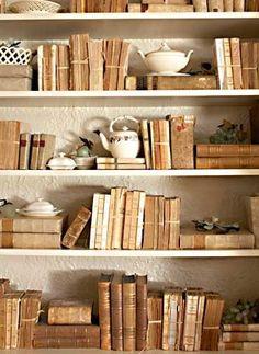 decor, book displays, bookcases, brabourn farm, farms, teas, bookcas inspir, book crafts, old books