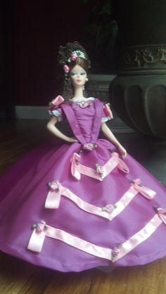 fuschiaTaffeta historical ball gown for 11.5 fashion by Chadwinkle, $45.00