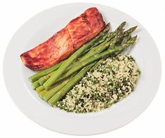 Barbecue Salmon With Herbed Couscous & Asparagus--20 meals under 500 calories