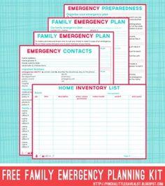 emergency planning printables