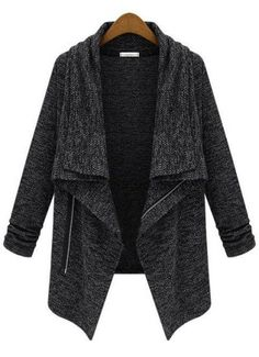 Drapey Grey Zipper Coat....wishlisted!