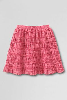 Girls' Woven Multi Ruffle Skort from Lands' End