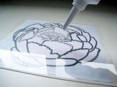 no-carve stamps with plexi glass and clear calk