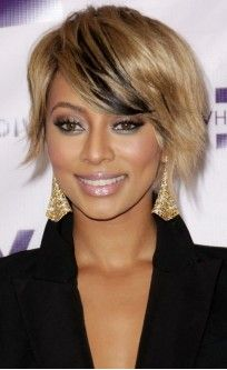 Keri Hilson Short Hair Wig with Bangs  #EvaWigs #Celebrity #Bangs short hair, human hair wigs, bang