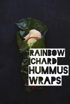 Rainbow Chard Hummus Wraps