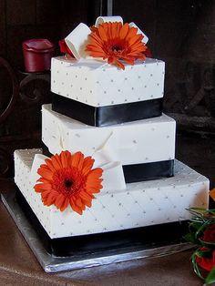 fun off centered square cake!