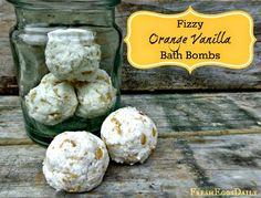 How to Make Fizzy Orange Vanilla Bath Bombs