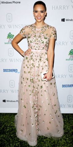 Jessica Alba in Valentino at the Baby2Baby Gala in Los Angeles, November 2012.