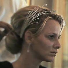 Princess Charlene of Monaco - The Diamond foam tiara.