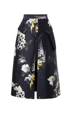 Vreeland Floral-Print Cotton-Blend Skirt by Ellery - Moda Operandi