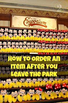 Did you know you can order souvenirs after you leave the parks?  Here's info on how to do that...