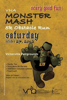 VICTORVILLE: VNA Monster Mash 5K Obstacle Run for Ghosts, Goblins AND Serious Athletes