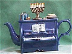 CHANUKAH  PIANO TEAPOT