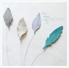 DIY fabric feathers.