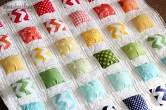 """""""puffy island"""" quilt. I need to grab a charm pack and stitch me up one of these!"""
