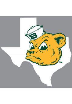 #Baylor University Sailor Bear Texas Decal - LOVE SAILOR BEAR!!!!
