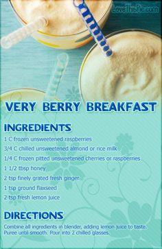Very Berry Breakfast Recipe smoothie recipe recipes easy recipes smoothie recipes smoothies smoothie recipe easy smoothie recipes smoothies healthy smoothies healthy smoothie recipes for weight loss