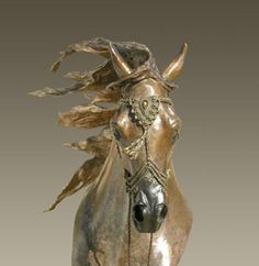 The outside of a horse is the best thing for the inside of a man...Attrib. to Winston Churchill. -- #horse #sculpture by Anne Butler