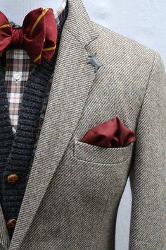 Mens Vintage Wool Tweed Sport Coat by ViVifyVintage
