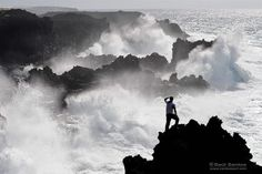 Waves Crashing - Isla de La Palma, Canary Islands. Spain