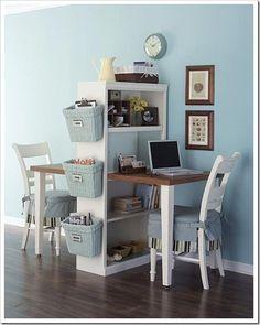 double-desk homework station
