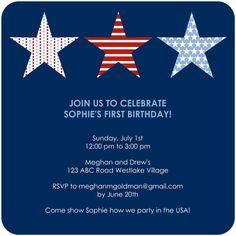 Sophie's first birthday?