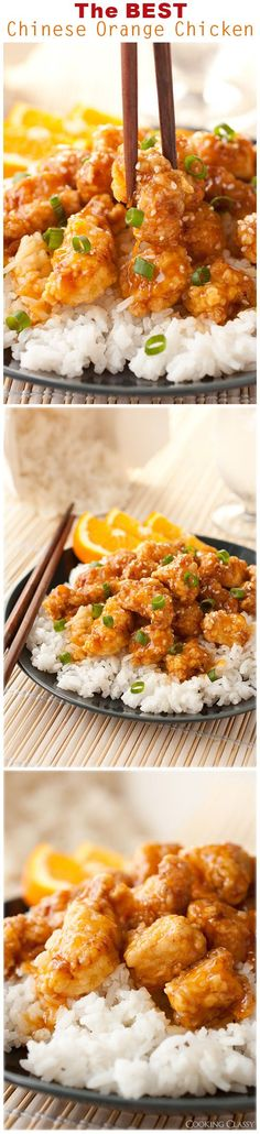 Chinese Orange Chicken - a pinned said: this is no doubt the BEST orange chicken I've ever had! It has gotten rave reviews!