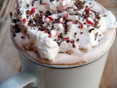 Peppermint Hot Chocolate from The Whimsical Cupcake.