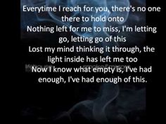 had enough lyrics lifehouse