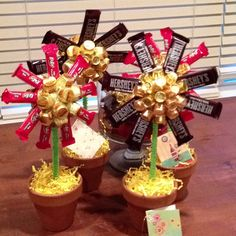 Candy flowers for teacher appreciation! Love this!!